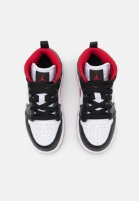 Jordan - 1 MID UNISEX - Basketball shoes - white/gym red/black - 3