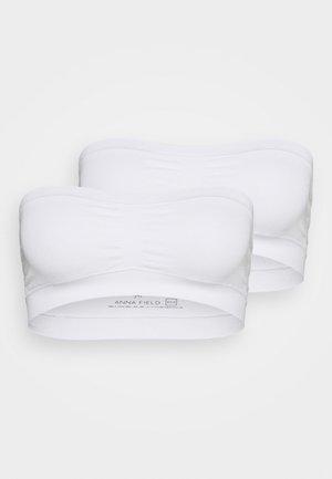 2 PACK - Reggiseno con spalline regolabili - white