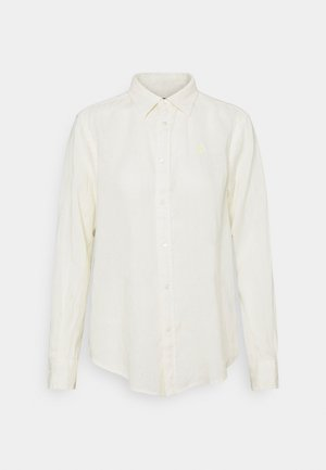 PIECE DYE - Button-down blouse - cream yellow