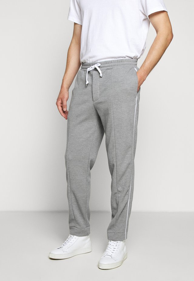 SIDE PANEL PANT - Tracksuit bottoms - heather grey
