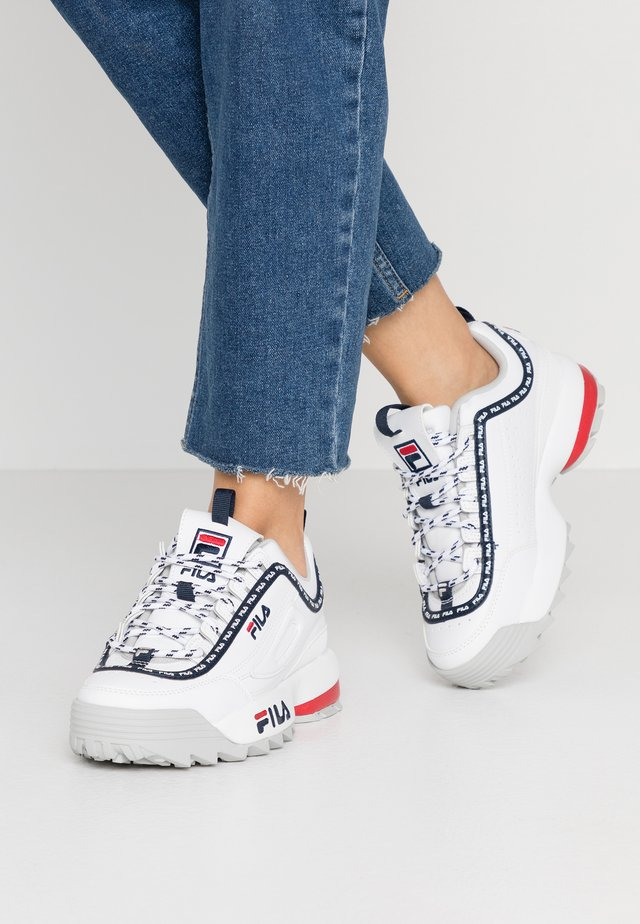 DISRUPTOR LOGO - Trainers - white/navy/red