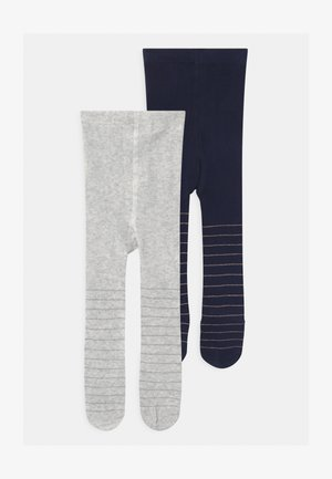 STRIPED 2 PACK  - Tights - grey melange/navy peony