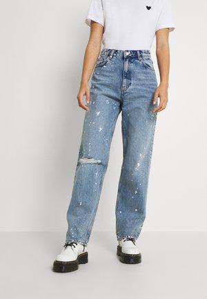Jeans straight leg - paint