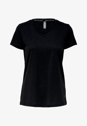 V NECK - Camiseta estampada - black