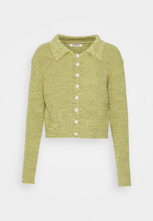 COLLARED BUTTON THROUGH WITH LONG SLEEVES - Cardigan - green/mauve