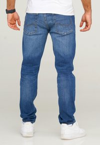Jack & Jones - JJIMIKE JJARIS - Straight leg jeans - dark blue denim - 2
