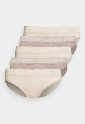 MIX KNICKER 5 PACK - Underbukse - almond mix