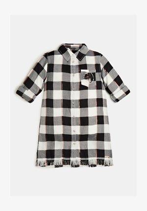 TARTAN-PRINT LUREX PAILLETTEN - Overhemdblouse - mehrfarbig, weiß