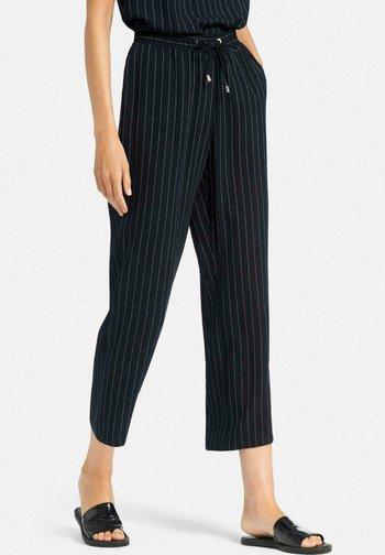 Trousers - nachtblau/weiß