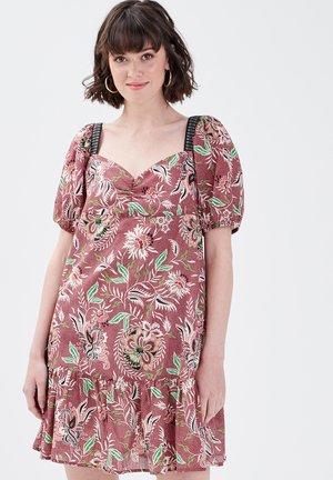 Korte jurk - rouge foncé