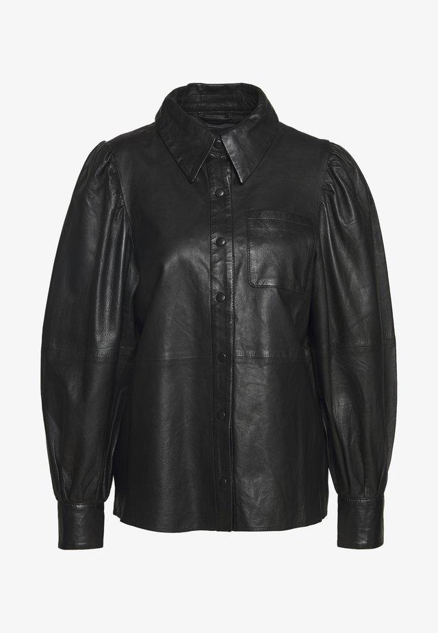 TALIA - Button-down blouse - black