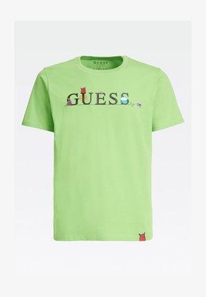 T-shirt con stampa - groen