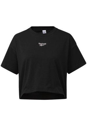 CROPPED T-SHIRT - Print T-shirt - black