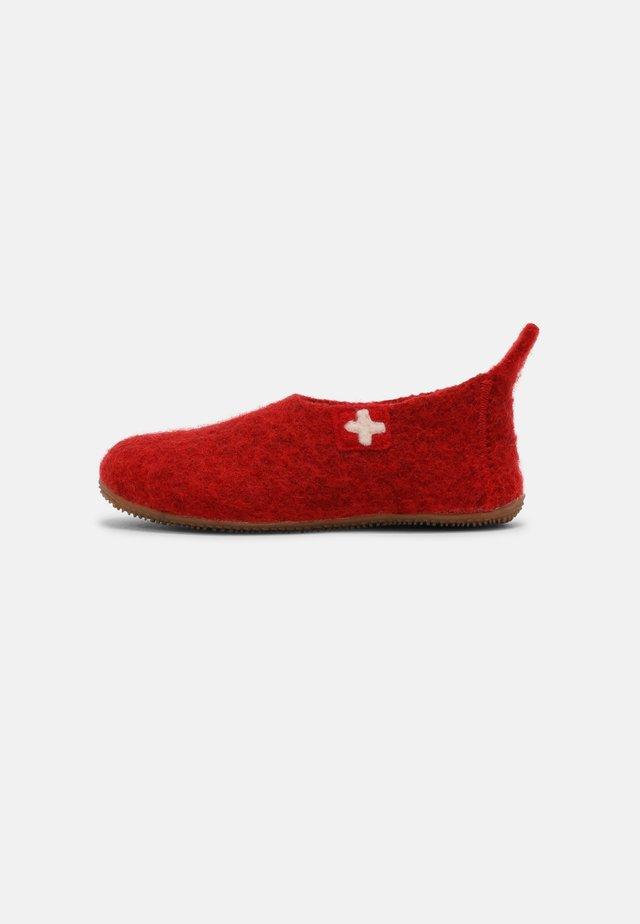 SCHWEIZER KREUZ UNISEX - Pantoffels - rot