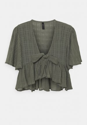YASFULLA TIE  - Blouse - olive night