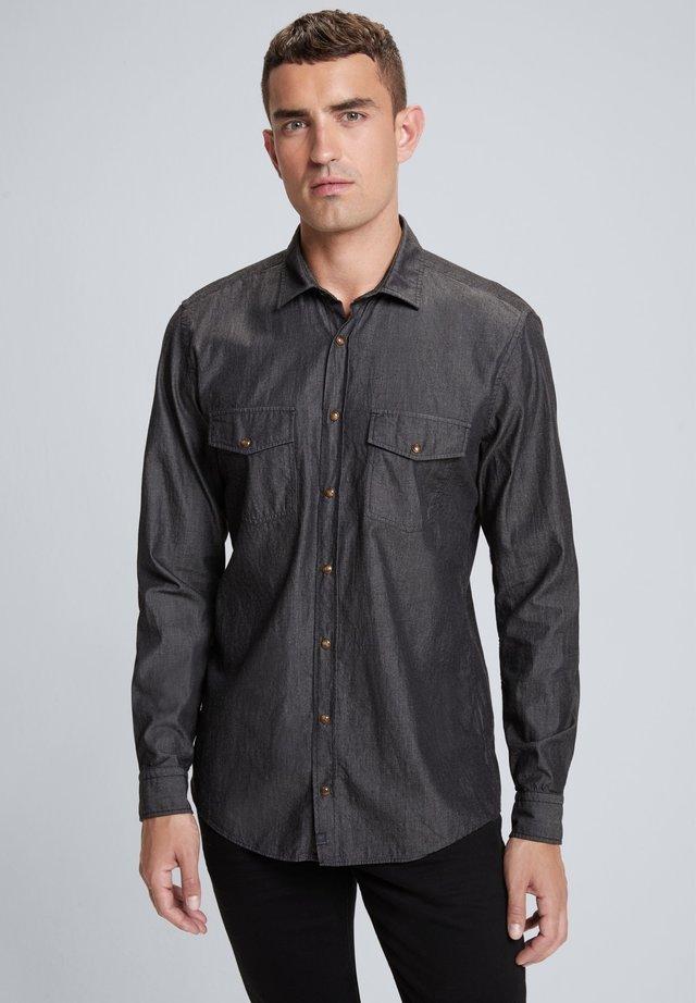 CALLEN - Shirt - mittelgrau