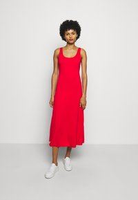 Polo Ralph Lauren - SLEEVELESS CASUAL DRESS - Žerzejové šaty - african red - 0