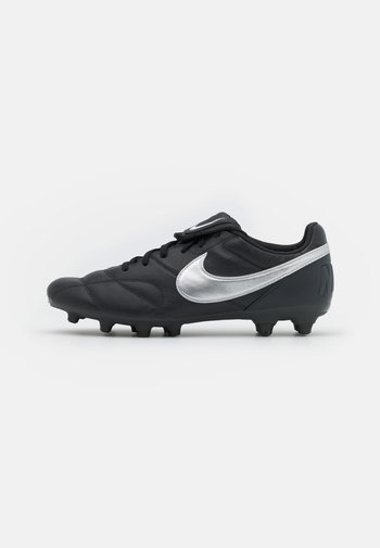 PREMIER II FG - Moulded stud football boots - off noir/metallic silver/black