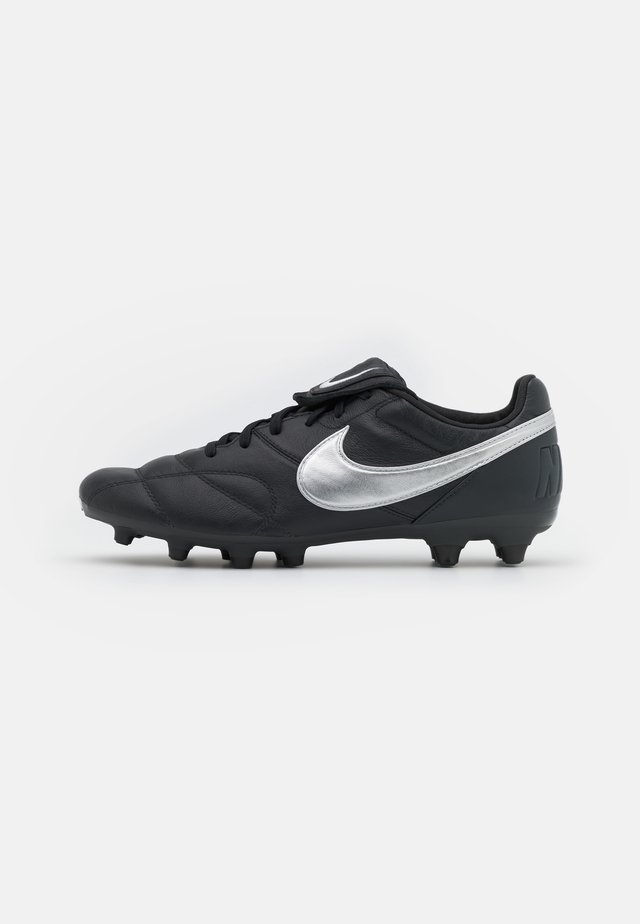 PREMIER II FG - Moulded stud football boots - off noir/metallic silver/black