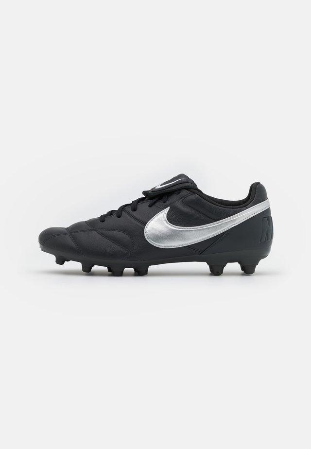 PREMIER II FG - Voetbalschoenen met kunststof noppen - off noir/metallic silver/black
