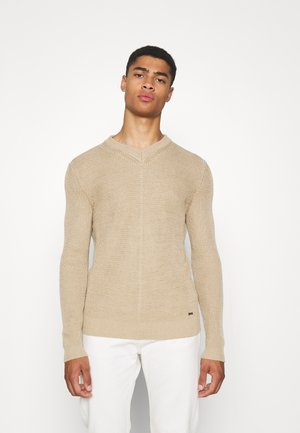 SMOVO - Stickad tröja - medium beige