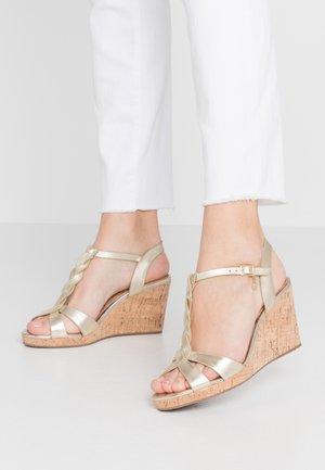 WIDE FIT KOALA - High heeled sandals - gold