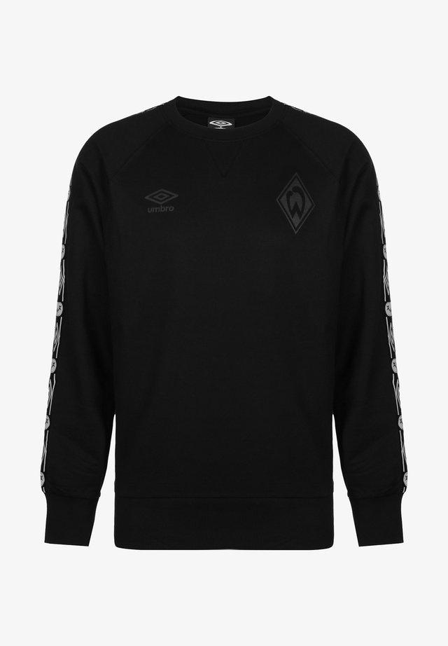 SV WERDER BREMEN TAPED - Sweatshirt - black