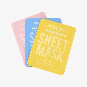 BIODEGRADABLE BLEMISH PRONE SKIN SHEET MASK - Huidverzorgingsset - -
