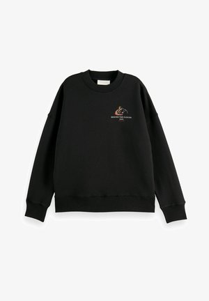 CREWNECK WITH GRAPHIC - Sweatshirt - black