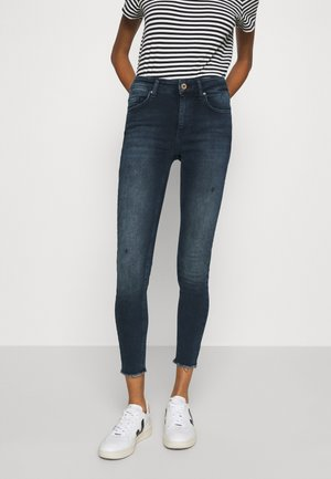 ONLBLUSH LIFE MID RAW  - Jeansy Skinny Fit - blue / black