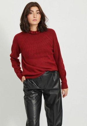 Jumper - red dahlia