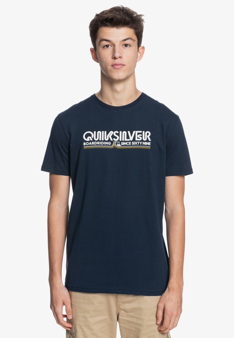 Quiksilver - LIKE GOLD - Print T-shirt - navy blazer