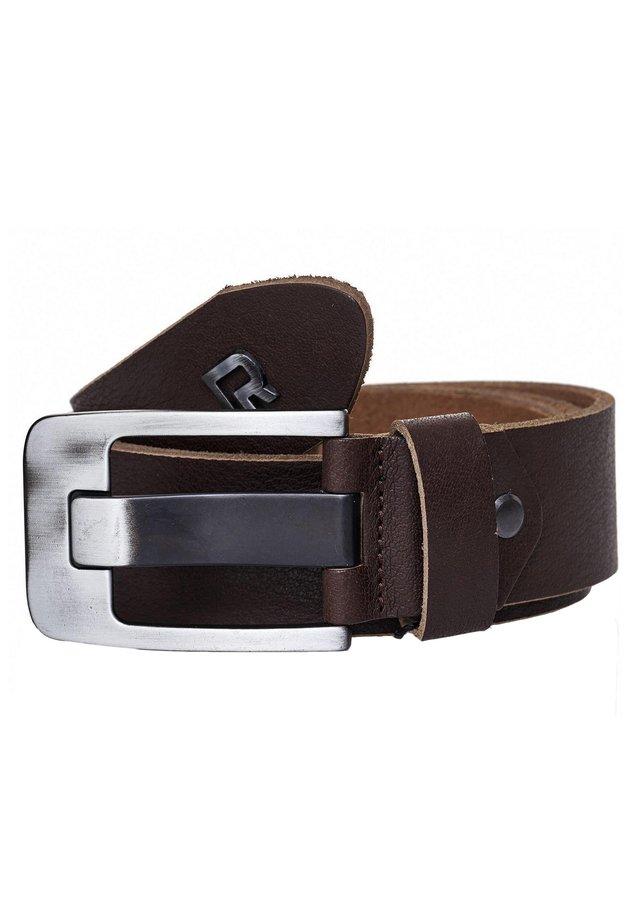 MIT METALL-BRANDLOGO - Belt - brown
