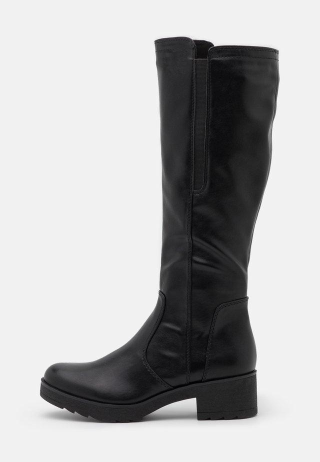 Platåstøvler - black antic