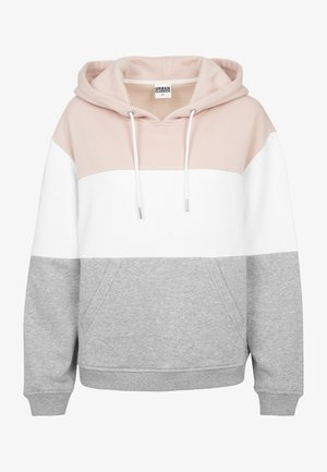 Hoodie - lightrose/white/grey