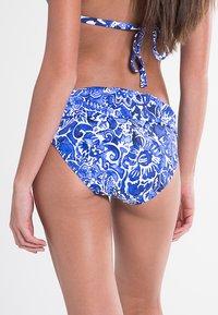 Lauren Ralph Lauren - PLAYA FLORAL CLASSIC SHIRRED BANDED HIPSTER LAPIS - Bikini bottoms - blue - 1