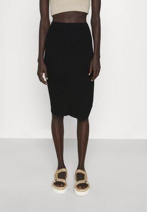 OLIVIA SKIRT - Pouzdrová sukně - black