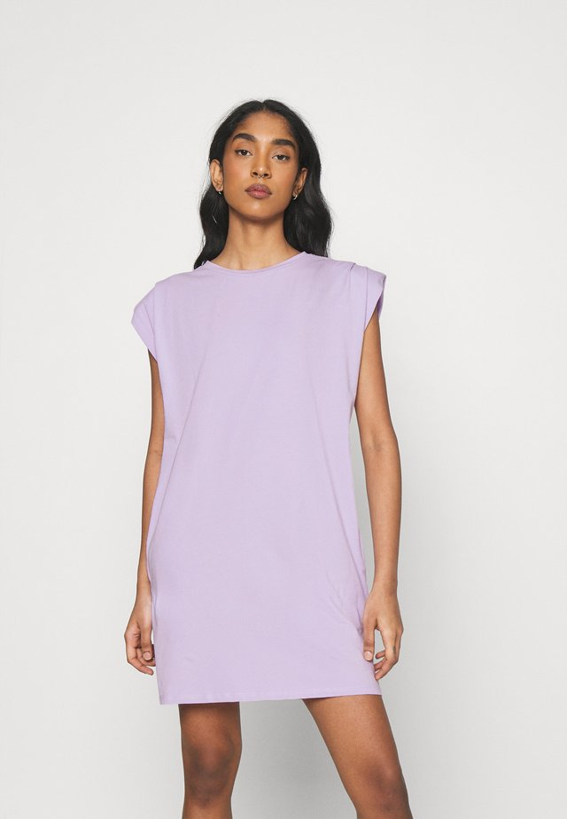 NMMINNA PADDED DRESS - Robe en jersey - pastel lilac