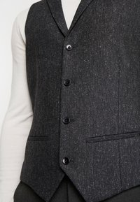 Twisted Tailor - SNOWDON WAISTCOAT - Waistcoat - charcoal - 5