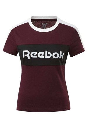 TRAINING ESSENTIALS LINEAR LOGO DETAIL T-SHIRT - T-shirts med print - burgundy