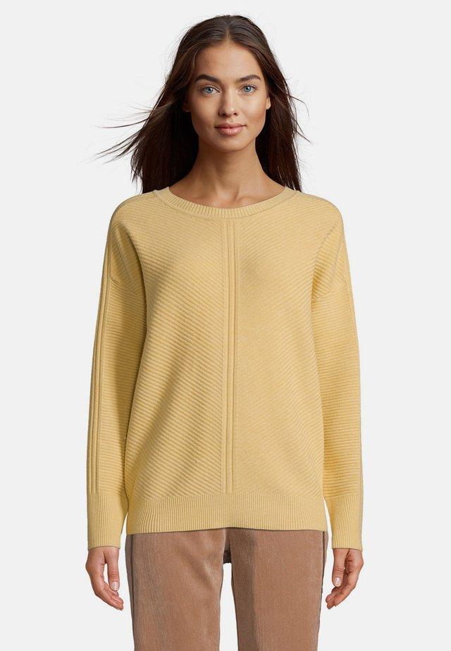 MIT STRUKTUR - Pullover - middle yellow melange