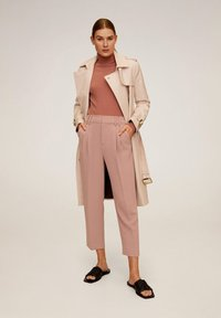 Mango - ELISA - Trousers - pink - 1
