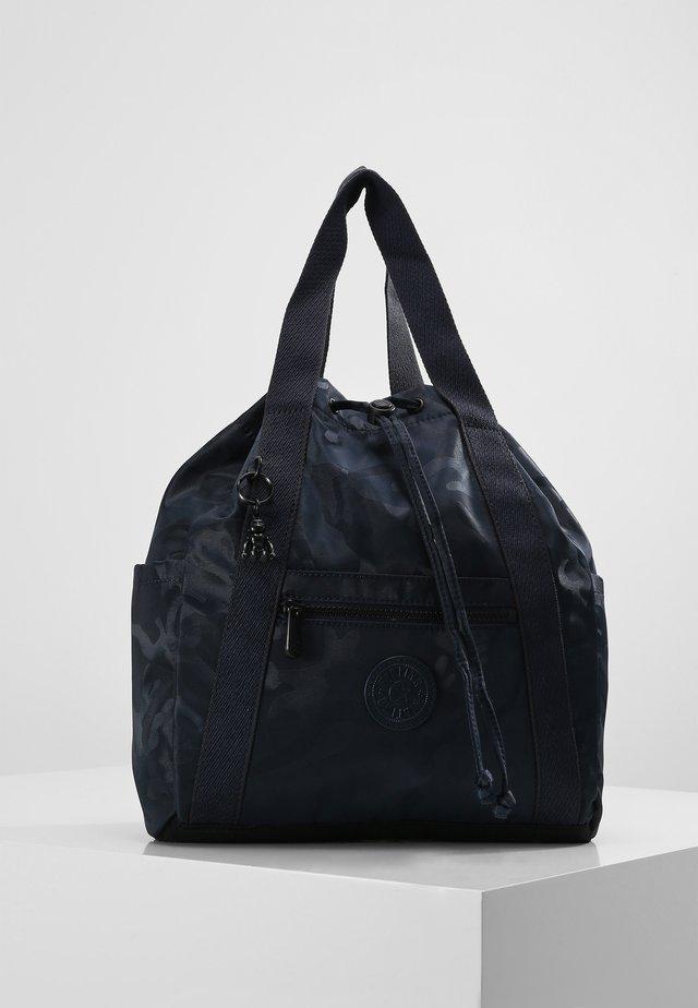 ART BACKPACK S - Plecak - satin camo blue