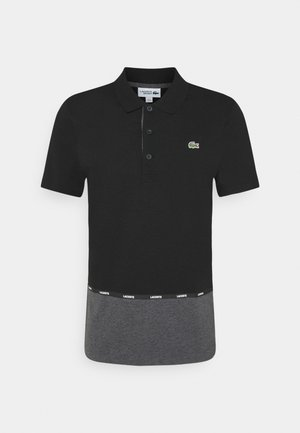 TAPING - Polo shirt - black/pitch chine-pitch chine