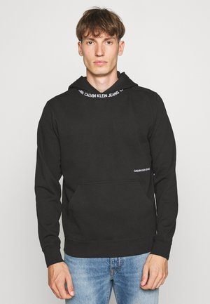 SUBTLE INSTITUTIONAL LOGO HOODIE - Hoodie - black