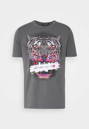 SAVAGE TEE - Print T-shirt - grey
