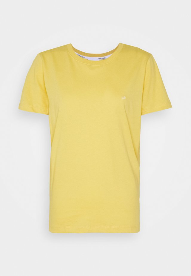 SMALL LOGO NECK  - Basic T-shirt - yellow dahlia
