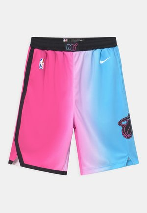 NBA CITY EDITION MIAMI HEAT UNISEX - Träningsshorts - pink/blue