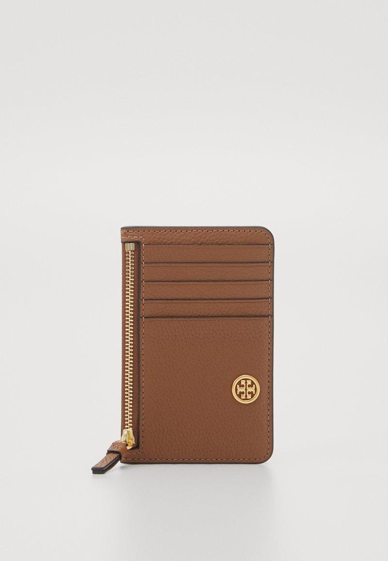 Tory Burch - WALKER TOP ZIP CARD CASE - Peněženka - light brown