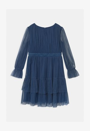 BISHOP SLEEVE RUFFLE DETAIL - Vestito elegante - indigo blue